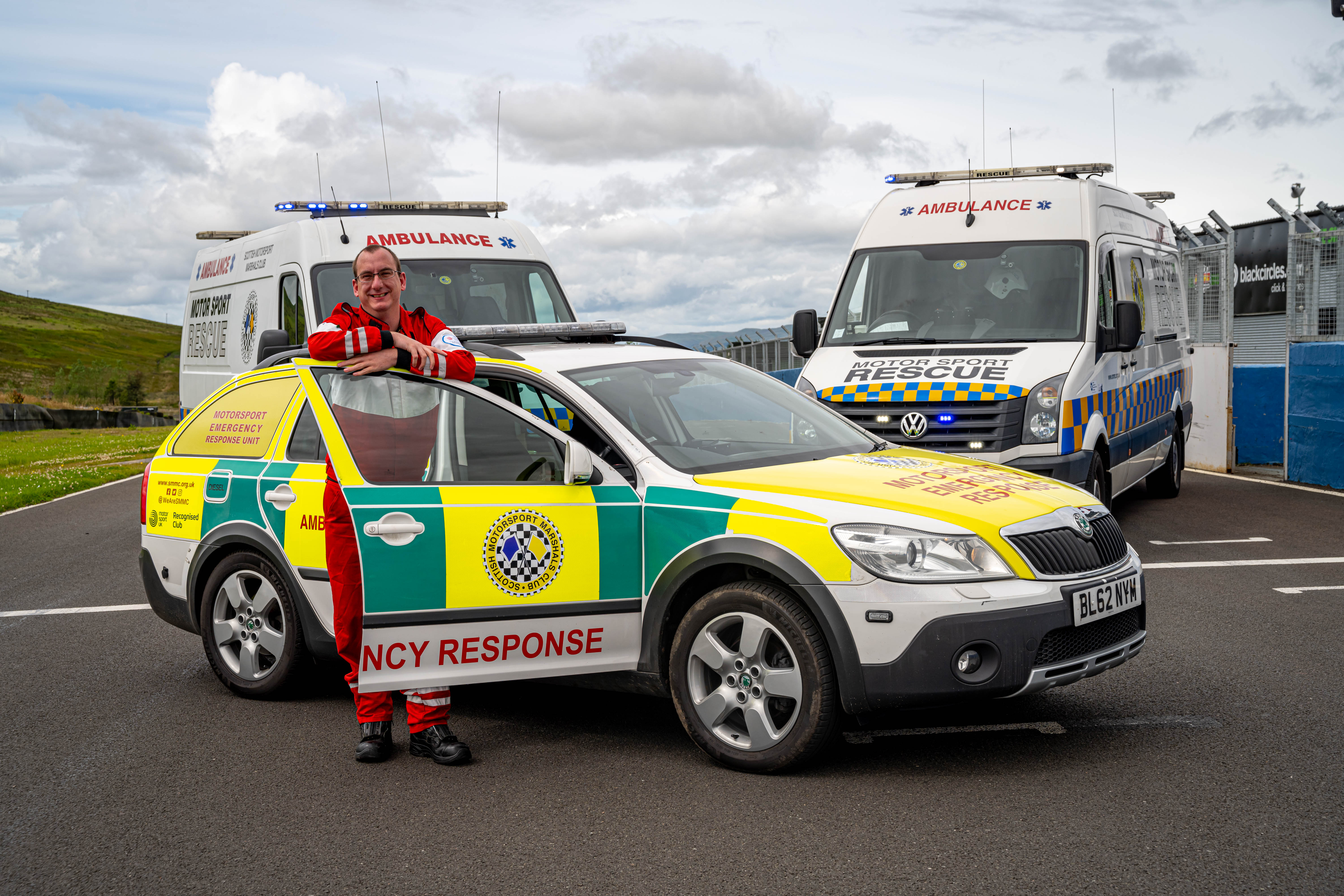 James Short with SMMC Medical Intervention Vehicle